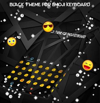 Black Theme for Emoji Keyboard poster