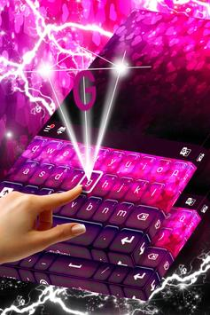 Neon Hearts Keyboard Theme apk screenshot