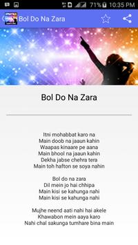Bol Do Na Zara Songs Azhar apk screenshot