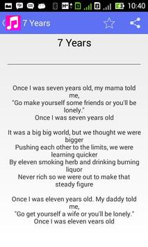 Lukas Graham 7 Years - Lyrics poster