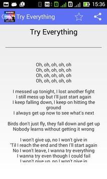 Shakira Try Everything - Lyric poster