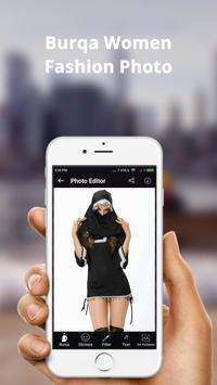 Burqa Women Fashion Photo Frame: Burqa Women Style poster