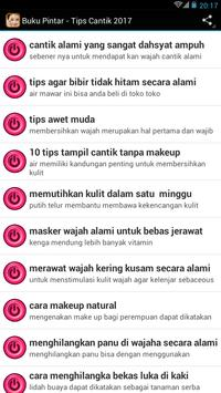 buku Pintar - Tips Cantik 2017 apk screenshot