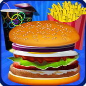Burger Fast Food Cooking Games icon