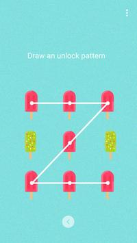 Blue ice cream - Solo Locker (Lock Screen) Theme apk screenshot