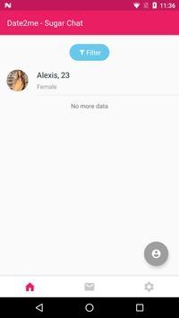 Date2me - Sugar Chat screenshot 1