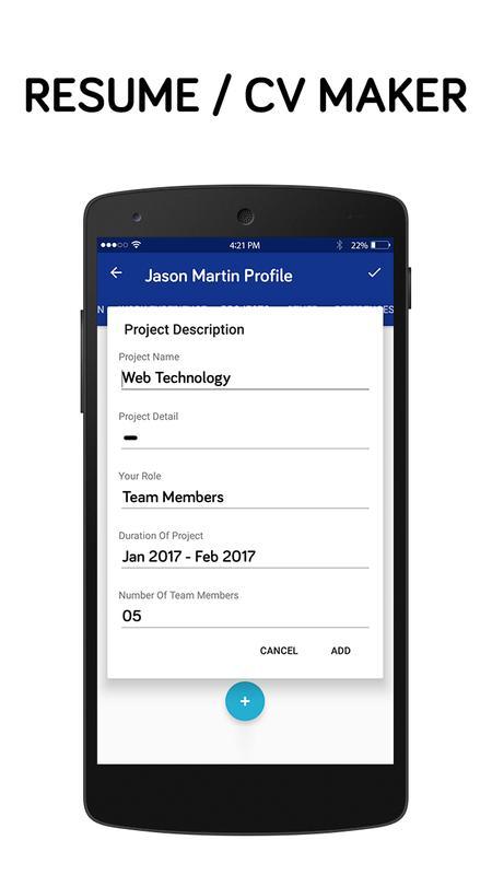 best resume making app free resume builder app for android apk