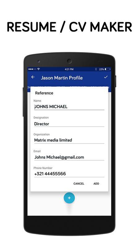 best resume making app free resume builder app apk screenshot