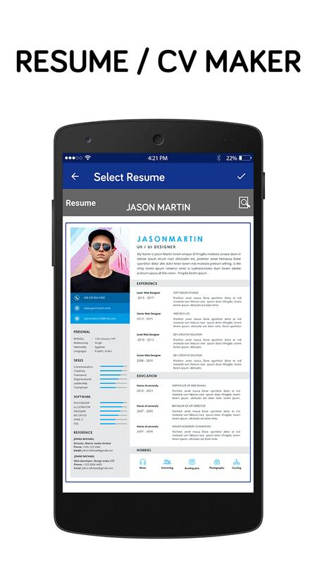 best resume making app free resume builder app screenshot 6 - Resume Maker App