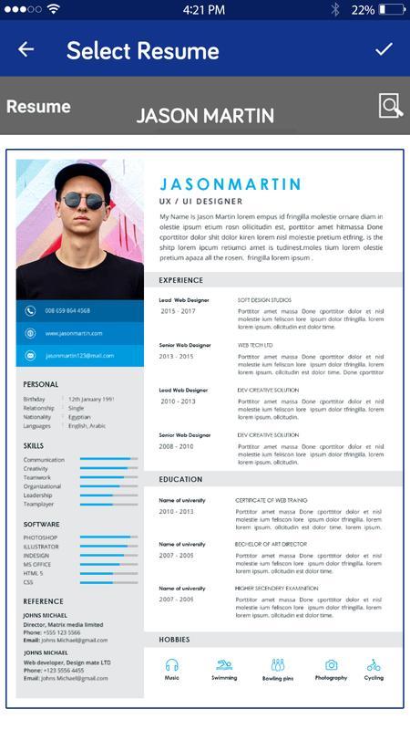 Resume Maker Pdf Cv Makerfree Resume App For Android Apk Download