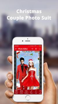 Christmas Couple Photo Frame: Christmas Dp maker poster