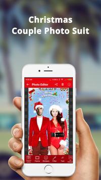 Christmas Couple Photo Frame: Christmas Dp maker screenshot 1