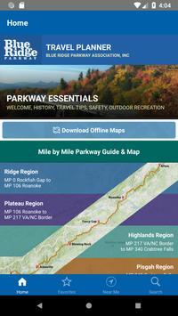 Blue Ridge Parkway Travel Planner penulis hantaran