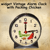 Vintage Clock Widget Chicken icon