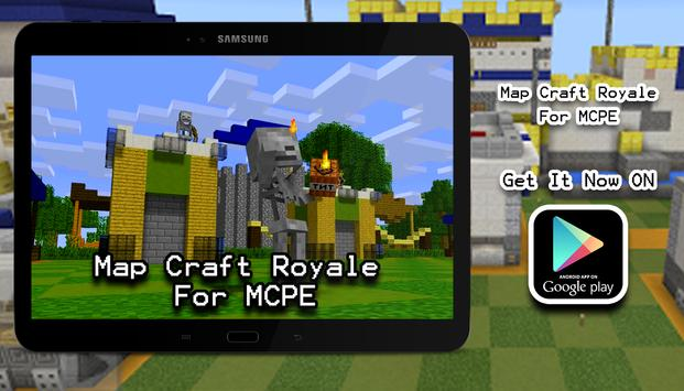 Map Craft Royale MCPE ! poster