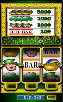 Shamrock Gold slot machine poster