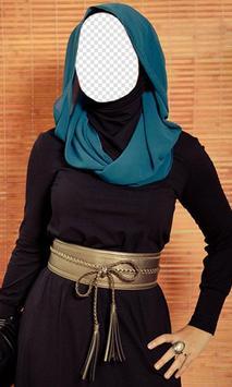 Hijab Women Fashion Photo Frame: Hijab Women Suit poster