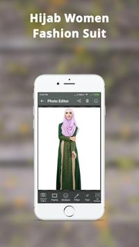 Hijab Women Fashion Photo Frame: Hijab Women Suit screenshot 5