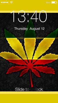 Marijuana Ganja Neon Lock poster
