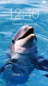 Dolphin Sea HD Lock poster
