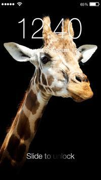 Giraffe Animal Lock poster