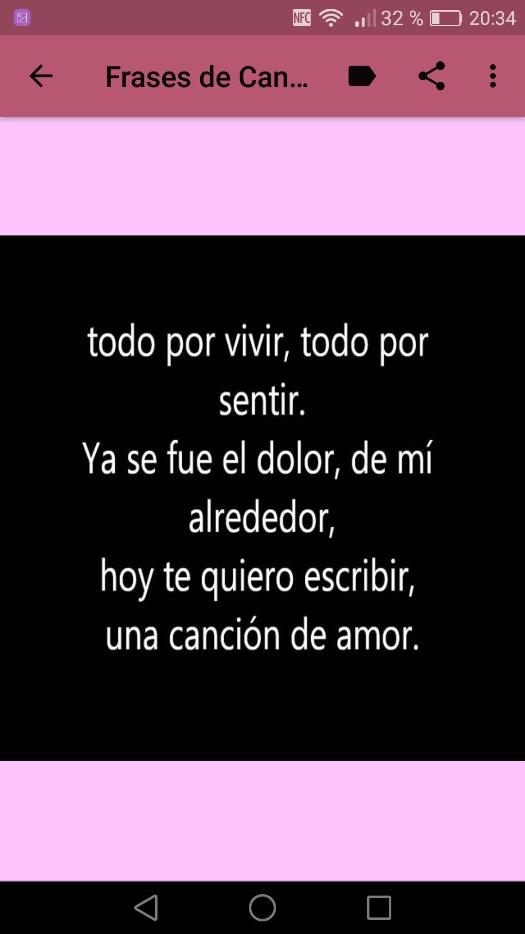Frases De Canciones De Amor для андроид скачать Apk