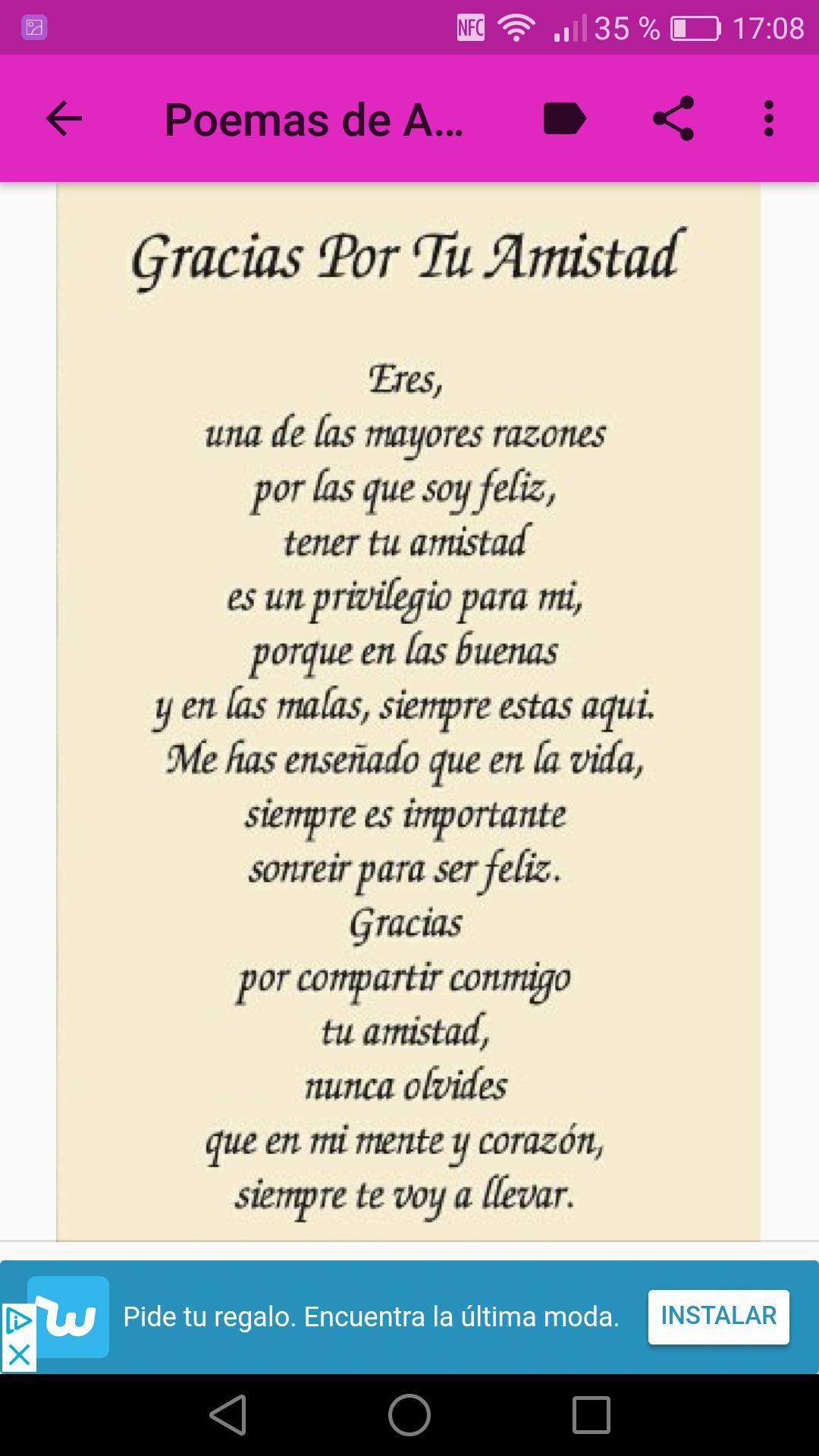 Poemas De Amor Y Amistad For Android Apk Download