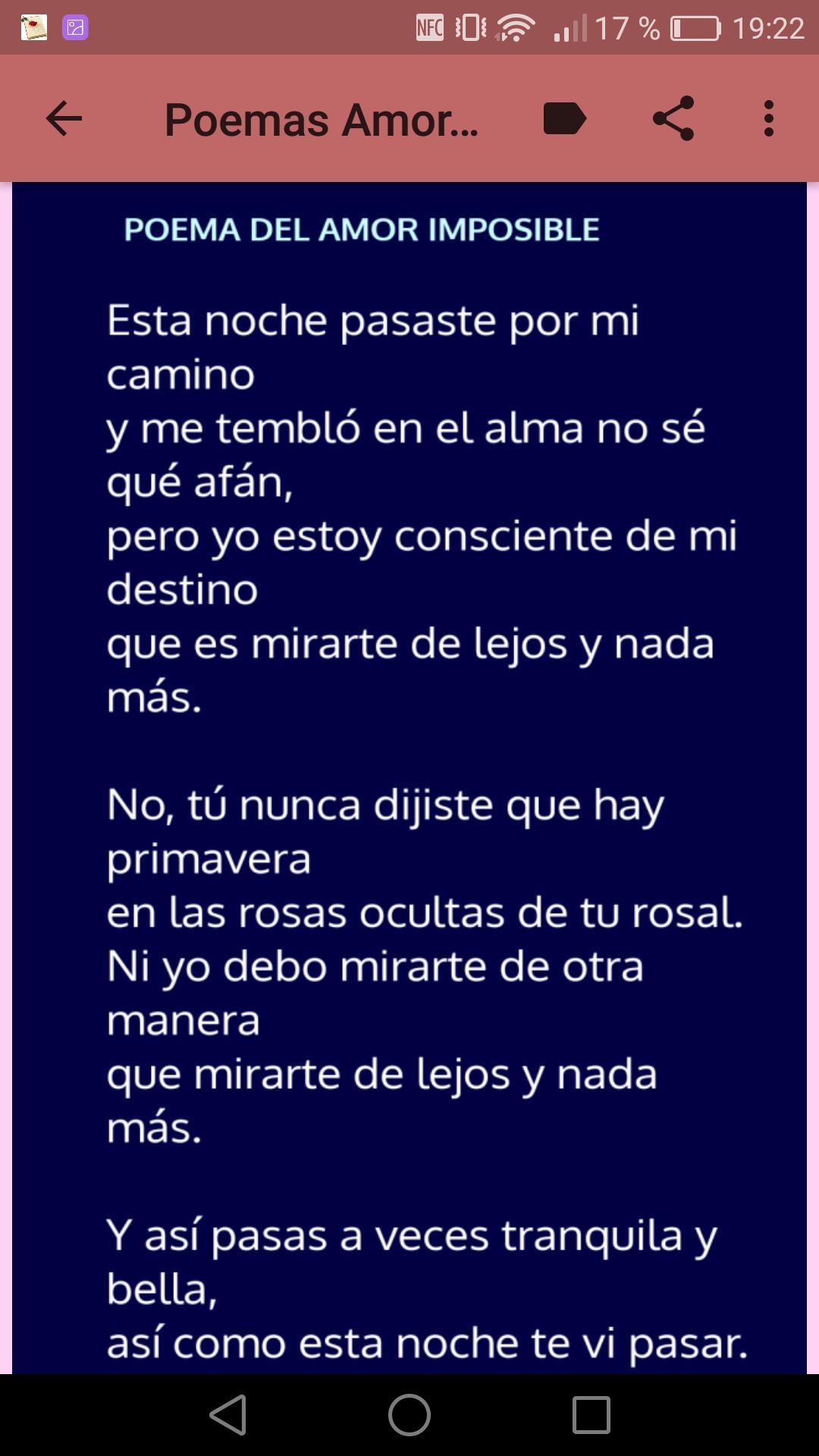 Poemas Para Un Amor Imposible Para Android Apk Baixar