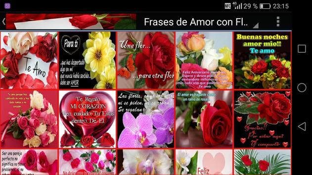 Frases de Amor con Flores apk screenshot