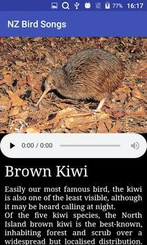 NZ Bird Calls poster