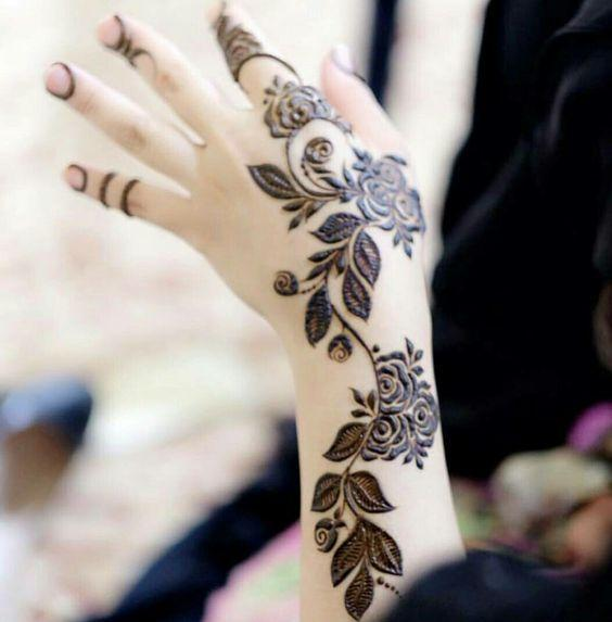 dubai arabic rose mehndi design