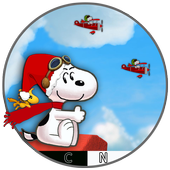 Snoopy air fly : Christmas 2018 icon