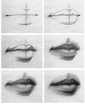New Lips Drawing Tutorial poster