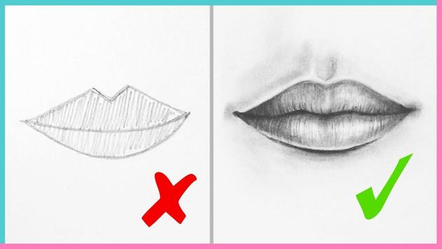New Lips Drawing Tutorial apk screenshot