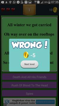 New Quiz Cold Play Lyric apk screenshot
