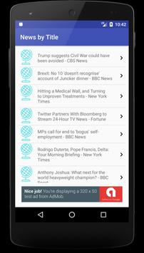 News In Short with Title & Image - Worldwide News apk screenshot