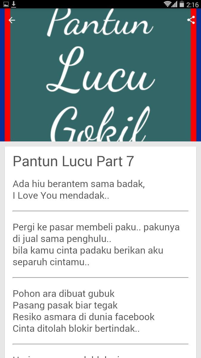 Pantun Lucu Gokil For Android APK Download