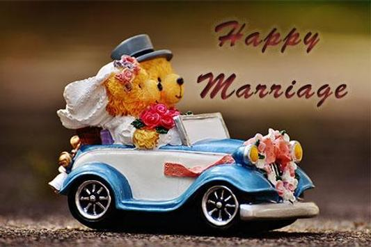 Happy Marriage & Wedding Card poster