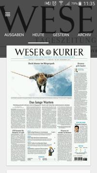 WESER-KURIER E-Paper poster