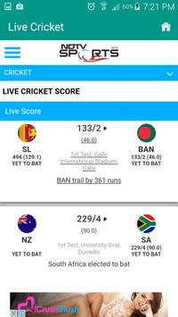 Live Cricket Scrore & News poster
