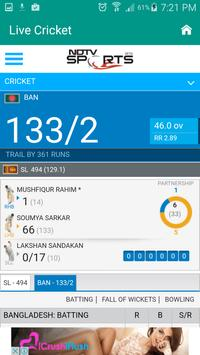 Live Cricket Scrore & News apk screenshot