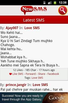 New SMS - Free SMS Collection screenshot 2
