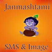 Janmasthami wallpaper and sms icon