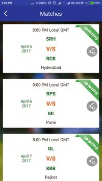IPLeague 2017 Live Match Score screenshot 2