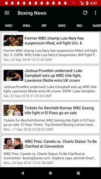 Boxing News screenshot 2