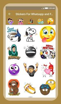 Stickers For Whatsapp & Facebook screenshot 4