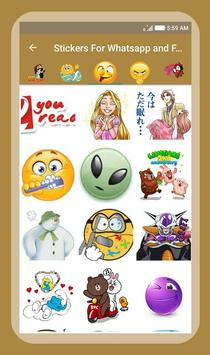 Stickers For Whatsapp & Facebook screenshot 6