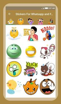 Stickers For Whatsapp & Facebook poster