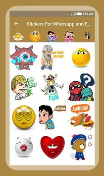 Stickers For Whatsapp & Facebook screenshot 2
