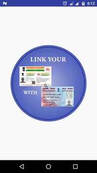 Link Aadhar with PAN Card poster